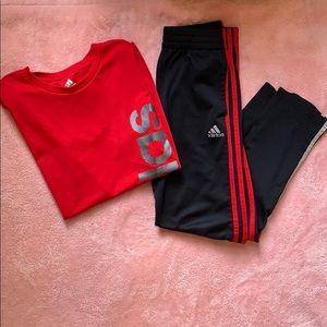 ADIDAS Boys Matching Set Track Suit SZ M (10-12)